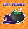 greeting halloween party template vector image vector image