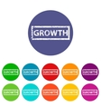 Growth flat icon vector image vector image