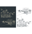 helicopter main rotor drawings vector image