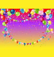 holiday frame with balloons vector image