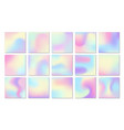 holographic backgrounds petrol gradient blotches vector image