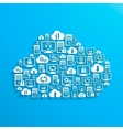 hosting network and cloud service icons vector image vector image