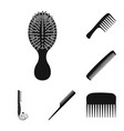 isolated object of brush and hair symbol vector image