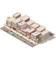 isometric small town street vector image