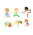 Kids Doing Advanced Yoga Poses vector image vector image