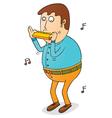 Man Playing harmonica vector image