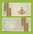 nature abstract eco banners set vector image vector image