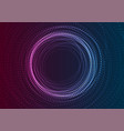 neon flowing futuristic particles abstract vector image vector image