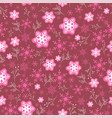 pink seamless pattern with snowflakes seamless vector image vector image