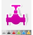 realistic design element oil valve vector image vector image