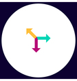 road arrow computer symbol vector image vector image