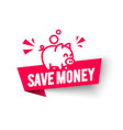 save money label modern web banner piggy bank vector image