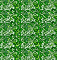 seamless plant and flowers pattern vector image vector image