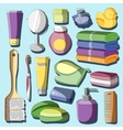 Set of Bath Accessories vector image