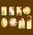 set of labels for autumn holiday vector image