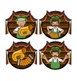 set of oktober festival emblems vector image