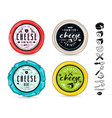 set template labels for cheese vector image vector image