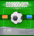 soccer football banner template for game vector image vector image