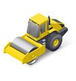 Soil compactor icon vector image vector image