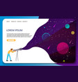 space astronomy science web banner template vector image