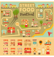 Street Food on City Map vector image vector image