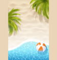 summer realistic background vector image