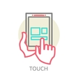 Touch screen tablet PC sign icon vector image vector image