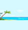 tropical coast with palm trees vector image vector image