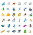 trust icons set isometric style vector image vector image