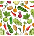 Vegetarian seamless pattern with vegetables vector image