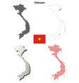 Vietnam outline map set vector image