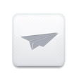 white origami plane icon Eps10 Easy to edit vector image vector image