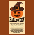 halloween poster with text on vector image