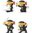 Ninja Customizable Mascot 2 vector image