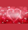 red valentine with background a heart concept vector image