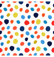 watercolor hand painted polka dot seamless pattern vector image