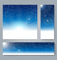 winter holiday banner set vector image