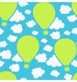Air balloons seamless pattern vector image