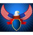 American eagle flag wing shield ribbon