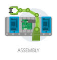 assembly smartphone internal structure microscheme vector image