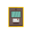 atm icon flat style vector image vector image