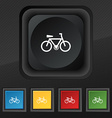 bicycle icon symbol Set of five colorful stylish vector image