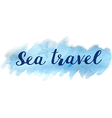 Blue abstract watercolor travel background vector image
