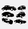 Car transportation silhouette vector image vector image