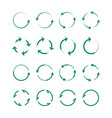 circular and swirling arrows set green whirlpools vector image vector image