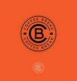 coffee break logo c and b letters in the circle vector image vector image