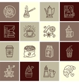 Coffee making equipment line icons vector image vector image