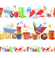 collection of seamless borders with colorful vector image vector image