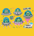 collection of stickers with fantastic vector image vector image