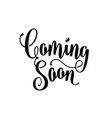 coming soon sign isolated on white background vector image vector image
